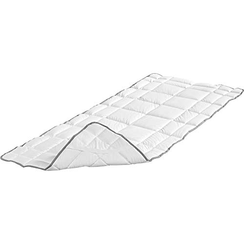 Badenia 03882140000 Bettcomfort Spannauflage Clean Cotton, 140 x 200 cm, weiß