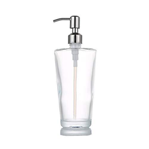 TOPBATHY 1 dispensador de jabón de cristal, para cosméticos, loción, bomba, para baño, cocina, baño