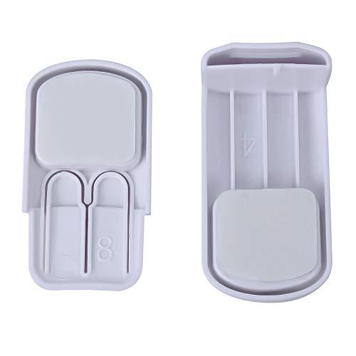 ZHDXW Cerraduras de seguridad para niños de plástico para guardar el bebé, con cierre de seguridad para bebés, o para dormitorio, inodoro, nevera, horno, puerta de seguridad, color blanco