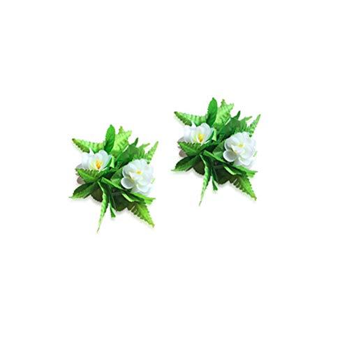 Amosfun 5 Pcs Artificial Flowers Hula Ti Leaf Leaf Green Grass Kostüm Halsband Armband Rock für Luau Party