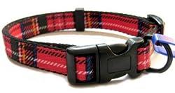 Small Red Tartan Ancol Collar 691220 Red