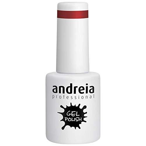 Andreia Esmalte de Uñas de Gel Semipermanente - Color 256 Roja - Sombras de Rosa - 10,5 ml