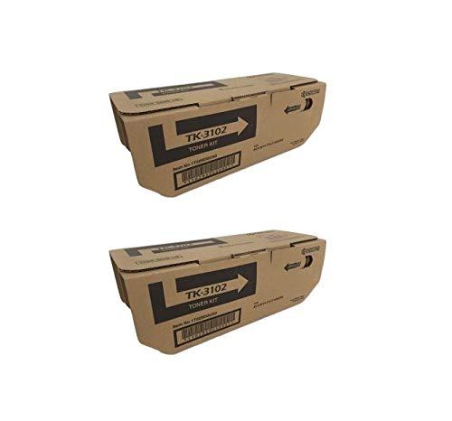 TK3102 Genuine Kyocera Toner Cartridge 2 Pack, 12500 Page-Yield Per Ctg, Black