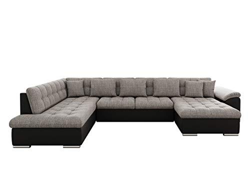 Mirjan24 Eckcouch Ecksofa Niko! Design Sofa Couch! mit Schlaffunktion! U-Sofa Große Farbauswahl! Wohnlandschaft! (Ecksofa Rechts, Soft 011 + Lawa 05)