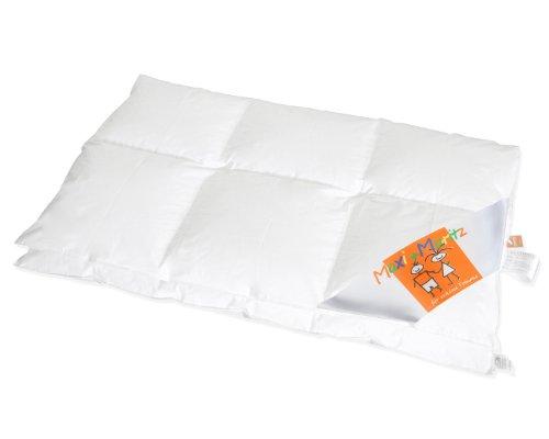 HANSKRUCHEN Maxi und Moritz | LUXUS Kinderbettchen Daunendecke 100x135 cm 3 x 4 Karos - 90% Daunen / 10% Federn - Deutsches Qualitätsprodukt
