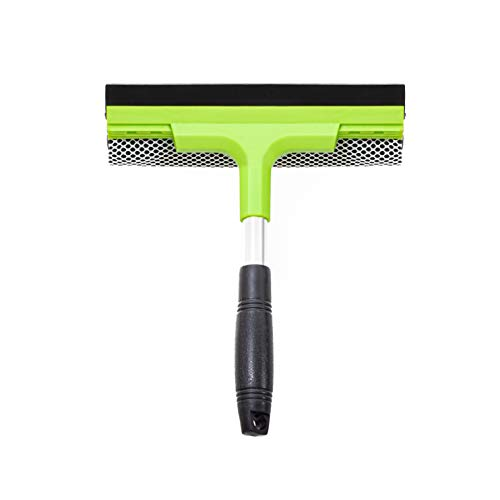 Window Squeegee Cleaning Tool | Squeegee Cleaner for Windows, Glass, Car Windshield | 2-in-1 Squeegee and Scrubber Sponge Washing Kit | Multi-Surface Washer - Indoor Outdoor Use