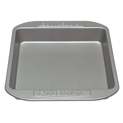 Farberware Nonstick Bakeware Nonstick Baking Pan / Nonstick Cake Pan, Square - 9 Inch, Gray