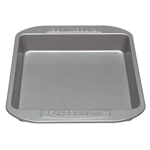 Farberware Nonstick Bakeware Nonstick Baking Pan / Nonstick Cake Pan Square  9 Inch Gray