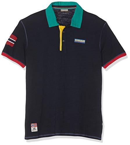 Napapijri Herren EECH Poloshirt, Blau (Blu Marine 176), XX-Large (Herstellergröße: XXL)