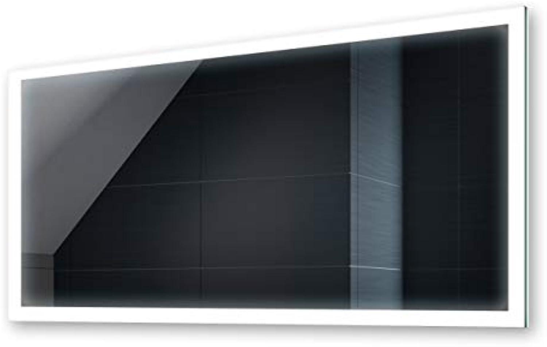 FORAM Design Badspiegel mit LED Beleuchtung 120x60cm Wandspiegel Badezimmerspiegel Lichtspiegel Premium Spiegel IP44 Wasserabweisend