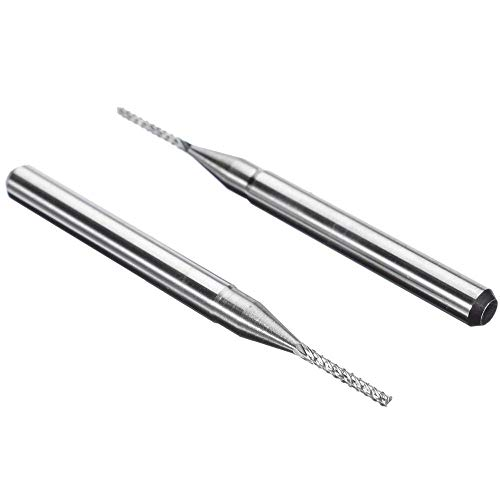 NIKOVAS 10Pcs Carbide End Mill HSS 4 Flutes 13.18mm Diameter Milling Cutter Straight Shank Router Bit Set CNC Tools