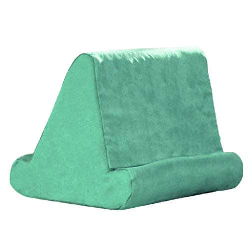 Nobranded Tablet Soft Pillow Lap Holder Stand Book Rest Reading Support Cushion For Pad, Used On Bed, Desk, Car, Sofa, Lap, Floor, Couch,Multi-Angle Soft Pillow - Grass Green