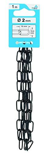 Dörner & Helmer Zierkette Serie 80 (Länge 1 m, für Gartendeko usw., Kette schwarz, Gliederkette für Dekoration) 4820052