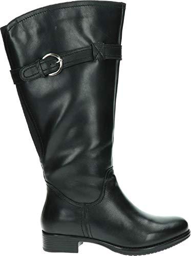 JJ Footwear Victoria Weitschaftstiefel Damen XXL | Stiefel für Dicke Waden | Weitschaftstiefel XXL | Stiefel mit weitem Schaft | Damen Stiefel weitschaft schwarz | Größe 40