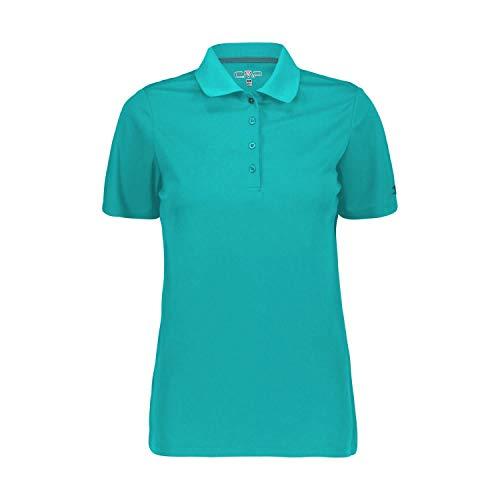 CMP Damen Atmungsaktives Poloshirt mit Komfort Fit, Ceramic, D40