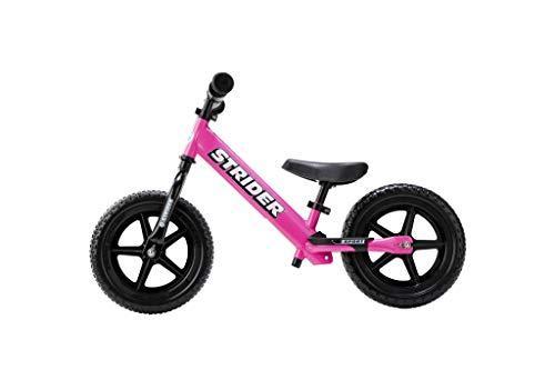 Strider 12 Sport Kinder Laufrad 12 Zoll, Lauffahrrad ab 18 Monate bis 5 Jahre, Balance Bike in Pink