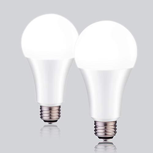 LED Light Bulbs 3-Way 50/100/150W Equivalent YAMAO A21 5000K Daylight Light Bulbs UL Listed 800/1500/2200LM (2 Pack)