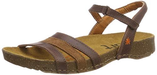 Art I Breathe, Sandalias con Correa de Tobillo Unisex, Marrón (Brown Wood), 37 EU