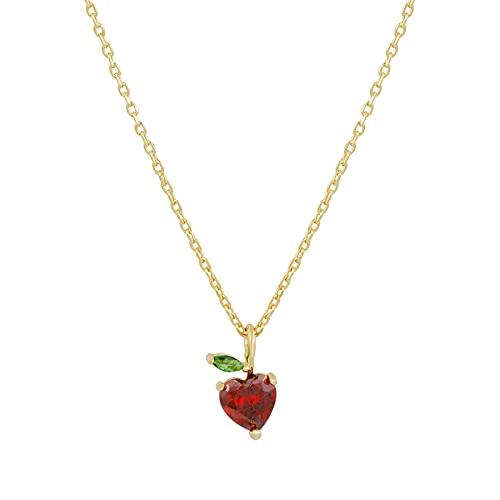 MIKUAD collarEl Verano Debe Tener limón, Manzana, Pomelo, plátano, piña, Mini Collares con Colgante de Frutas para Mujer, Collar de Capa Chapado en Oro