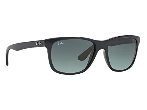 Ray Ban RB4181 Sunglasses Black w/Crystal Grey Gradient Azure Lens 60171 RB 4181