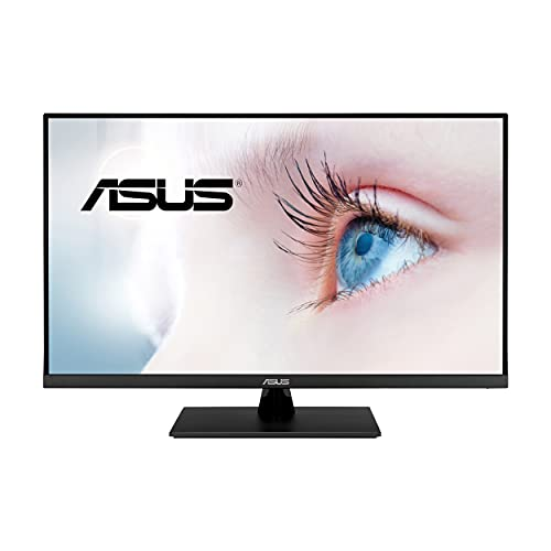 "ASUS 31.5"" 4K HDR Monitor (VP32UQ) - UHD (3840 x 2160), IPS, 100% sRGB, HDR10, Speakers, Adaptive-Sync/FreeSync, Low Blue Light, Eye Care, VESA Mountable, Frameless, DisplayPort, HDMI, Tilt"