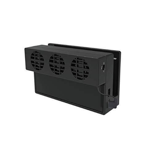 FENGCHUANG Ventilador de Refrigeración para Nintendo Switch Ventilador Externo USB Ventilador de Refrigeración Base con 3 Ventiladores de Refrigeración Voltaje de Funcionamiento CC de 5V