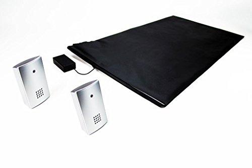 Pratoline Alfombra con sensores de presión| Anticaídas| Transmisor de radio| con dos Receptors móvil| Colocación junto a la cama| Para el cuidado en el hogar| 70cm x 40cm| Made in Germany