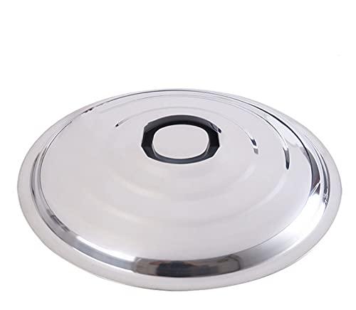 Coperchio multiuso in acciaio inossidabile, padella addensata Coperchio grande Coperchio universale/per pentole e padelle Coperchi per padelle in acciaio inossidabile-42cm
