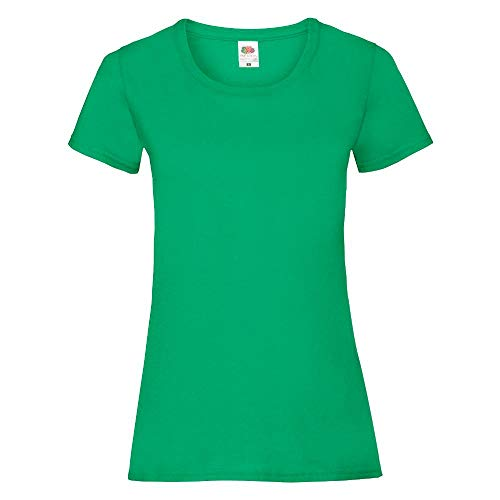 Fruit of the Loom - Lady-Fit Valueweight T - Modell 2013 XS,Kelly Green