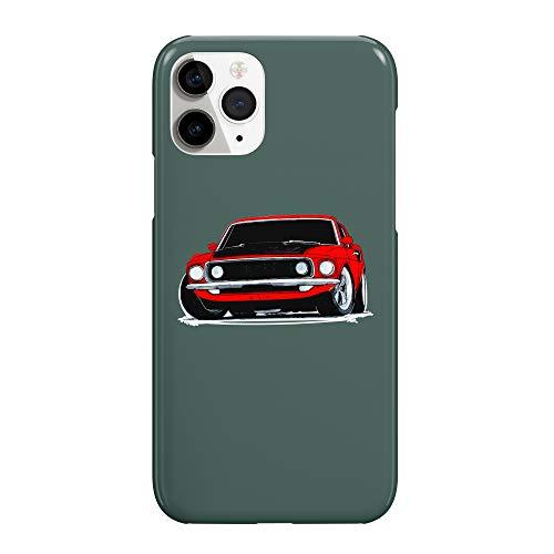 Músculo coche rojo Vintage_MRZ2492 duro plástico protector teléfono teléfono móvil funda divertida para Huawei P9