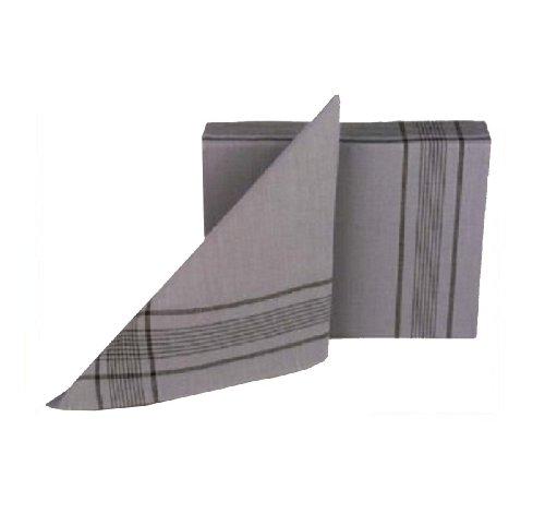 Tobeni 12 Bundeswehr Taschentücher Herrentaschentuecher Stoff Taschentuch 100% Baumwolle Militär-Grau 50 cm x 50 cm