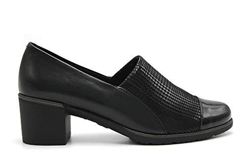 Pitillos - Zapato Abotinado Texturas Puntera - Negro,...