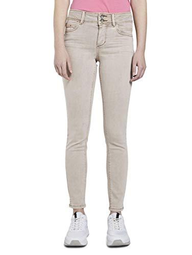 TOM TAILOR Damen Jeanshosen Alexa Skinny Contour Jeans in Ankle-Länge Dusty Taupe,28/30