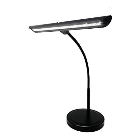 Infitronic Lampe de piano à 18 LED -avec port USB et lumière blanche réglable - Noir