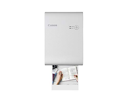 Canon SELPHY QX10 Portable Square Photo Printer for iPhone or Android, White