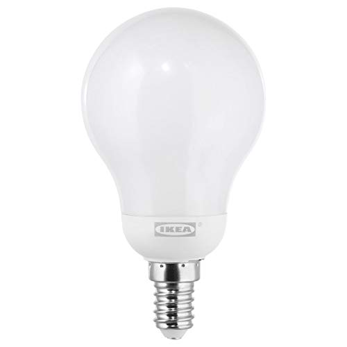 IKEA LEDARE LED lamp E14 600 lumen warm dimmen/globe opaal wit