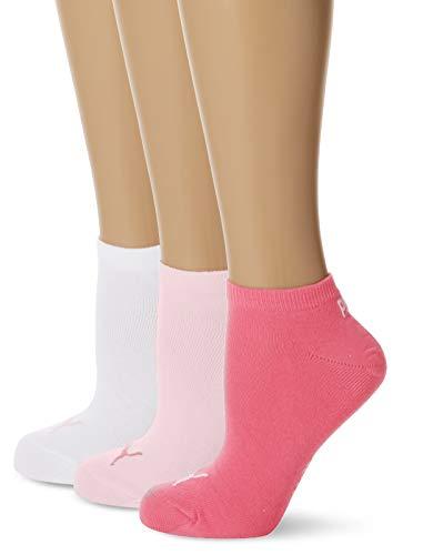 PUMA Unisex Sneaker Plain 3P - Calcetines unisex, color rosa, talla 39-42