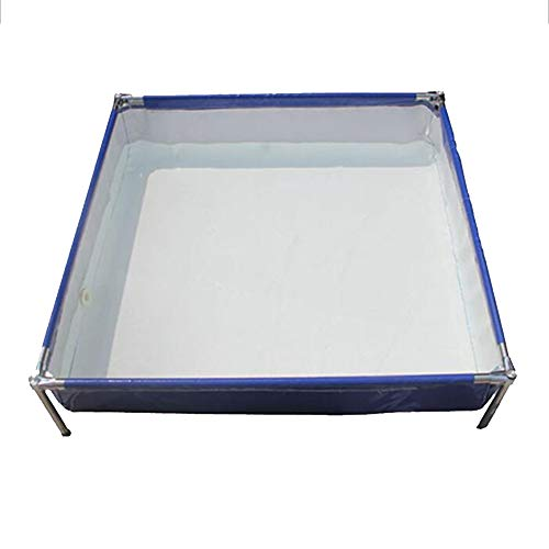 DGLIYJ Piscina Rectangular Desmontable de Acero Pro Splash Frame con Estructura de Acero, 80 x 100 x 42 cm, 550 litros, Azul
