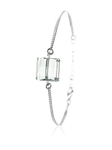 Desconocido So Charm with Crystals from Swarovski Pulsera Plateado