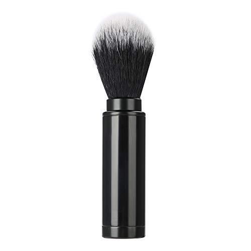 Synthetische Rasierpinsel, abnehmbare Herren Rasierpinsel aus Aluminium, tragbares Bartpflegewerkzeug für Zuhause und Reisen(Schwarz)