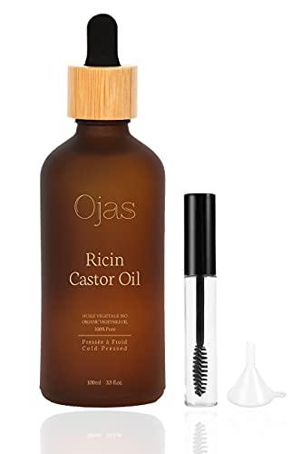 Ojas - Bio-Rizinusöl aus Indien | Organic Castor Oil | 100{07c66f862caef9171c03de7ff59358ce4b7440a78af05d97cb5d14b5b5161276} Rein, Jungfräulich, Natürlich und Kaltgepresst - 100 ml