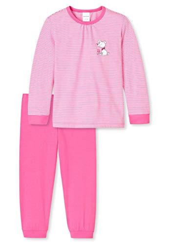 Schiesser Mädchen Langer Schlafanzug Pyjama Lang - 155128, Größe Kinder:140, Farbe:pink