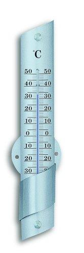 TFA Dostmann Analoges Innen-Außen-Thermometer, aus Aluminium, wetterfest