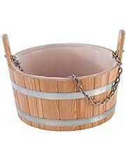 Eliga humidificación bañera de madera de alerce con plástico de uso
