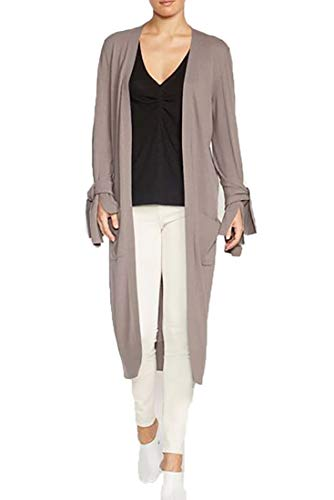 Material : 100% Cotton Albian Tie Duster Cardigan in Covert Grey The Albian Tie Duster is a full length light weight piece that is a must have this season Complete the look with our Helia Tank and Westport Pant. It is worn open and has a loose fit.