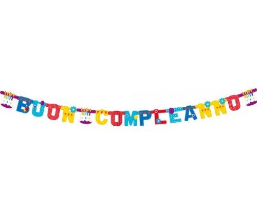 Boland Festone Buon Compleanno Torta Extra Large 250 x 15 cm, Multicolore