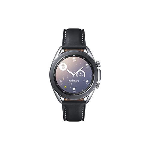 Samsung Galaxy Watch3, runde Bluetooth Smartwatch für Android, drehbare Lünette, Fitnessuhr, Fitness-Tracker, großes Display, 41 mm, silber, inkl. 36 Monate Herstellergarantie [Exkl. bei Amazon]
