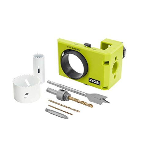 Ryobi A99DLK4 Wood and Metal Door Lock Installation Kit for Installing Deadbolts and Locksets