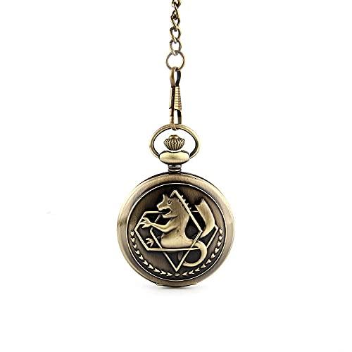 Fullmetal Alchemist Edward Eric Colgante Reloj Moda Dragon Wing Con Cruz Dial Collar Punk Cross Accesorios De Joyería