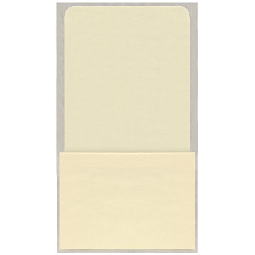 The Library Store High Back Peel and Stick Self Adhesive Book Pockets 100 per Package